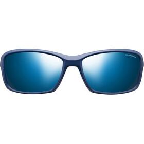 Julbo Run Polarized 3+ Occhiali da sole Uomo, matt blue/blue/grey flash blue